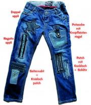 Jeanshose mit Loch - Freestyle flicken