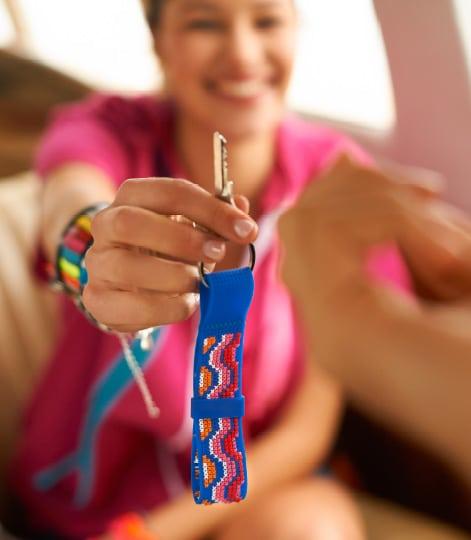 Bestickter Schlüsselanhänger