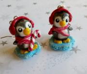 Pinguine Weihnachten Ohrringe