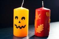 Herbst und Halloween Kerzen (mit Vorlage)