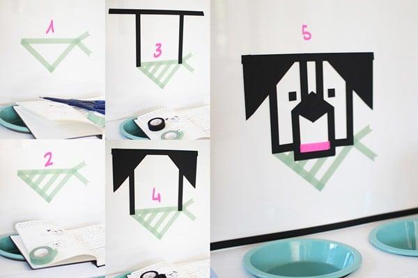 DIY mit Masking Tape: Futter-Station für Hunde