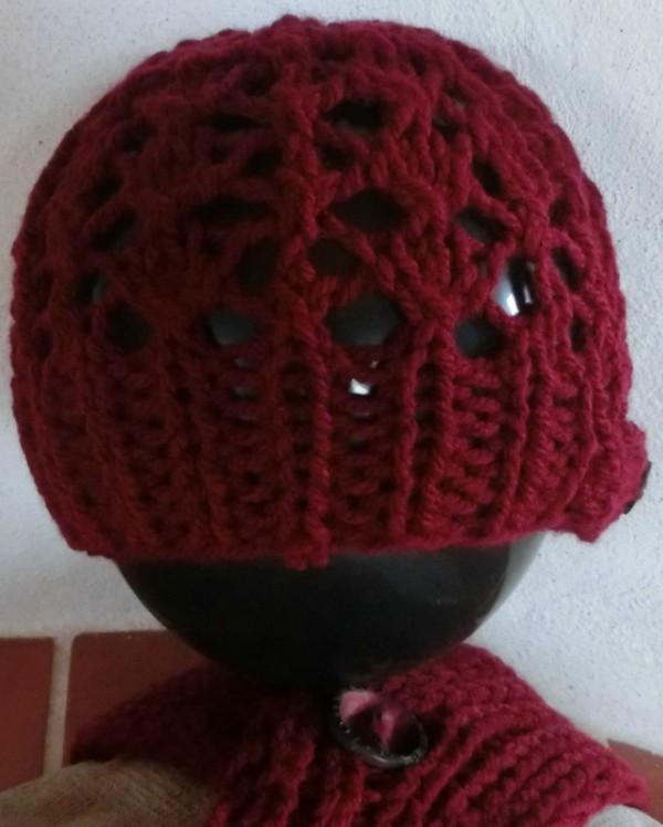 Lace-Mütze und Schal
