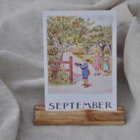 Postkarten- oder Fotohalter aus einem Aststück