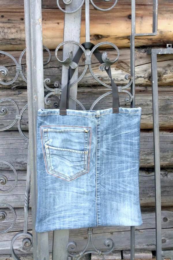 Ratz Fatz Upcycling Jeanstasche Handmade Kultur