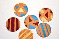 Küchenstopp #1: Geometrische Korkuntersetzer