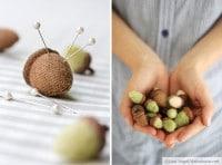 Going Nuts: Eicheln aus Stoff und Filz