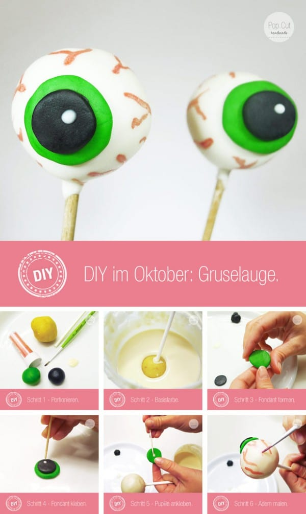 DIY Gruselaugen Cake Pops