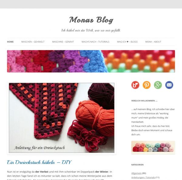 Monas Blog - Ich häkel mir die Welt, wie sie mir gefällt.