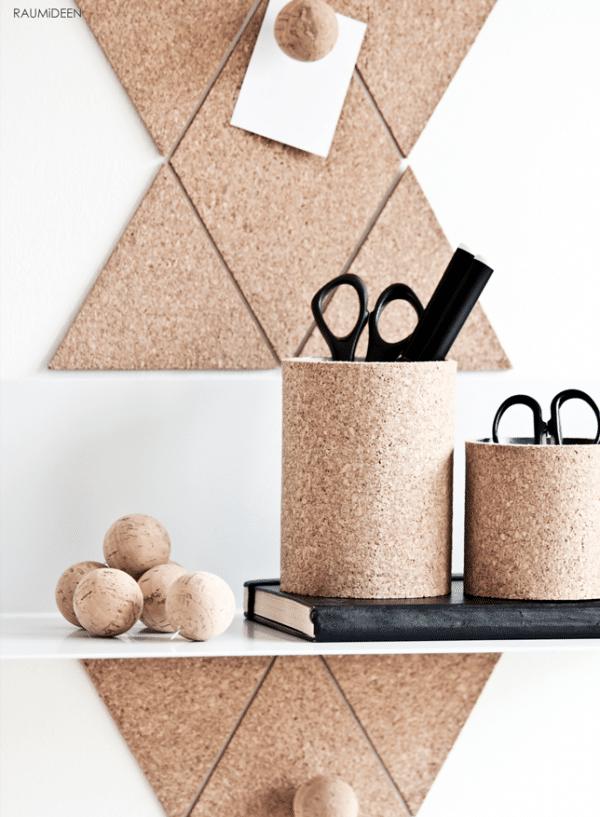pinnwand pinnnadeln und becher aus kork detaillierte anleitung handmade kultur. Black Bedroom Furniture Sets. Home Design Ideas