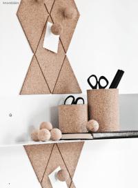 Pinnwand, Pinnnadeln und Becher aus Kork (detaillierte Anleitung)