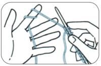 Basic Stricken: Rechte Maschen