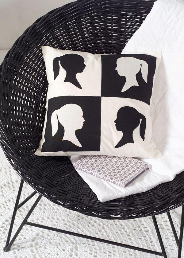 scherenschnitt kissen handmade kultur. Black Bedroom Furniture Sets. Home Design Ideas