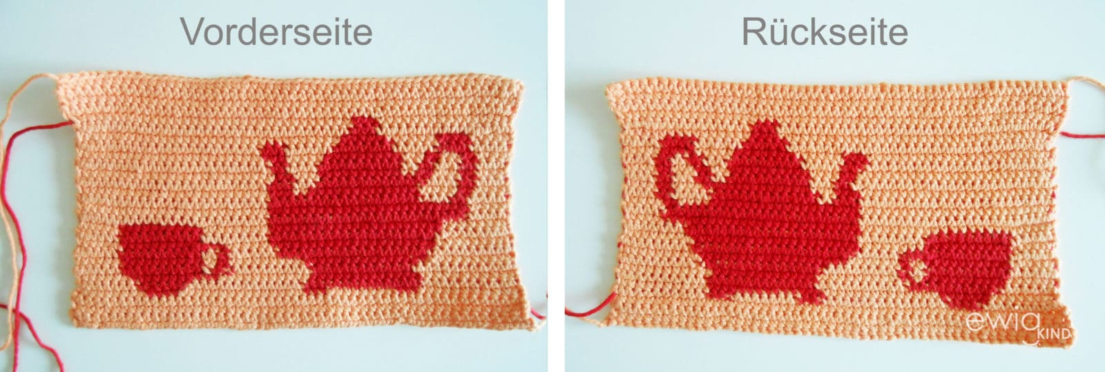 Tapestry Crochet Teekannenwärmer Handmade Kultur