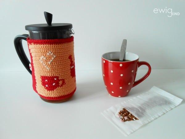 Tapestry Crochet Teekannenwärmer