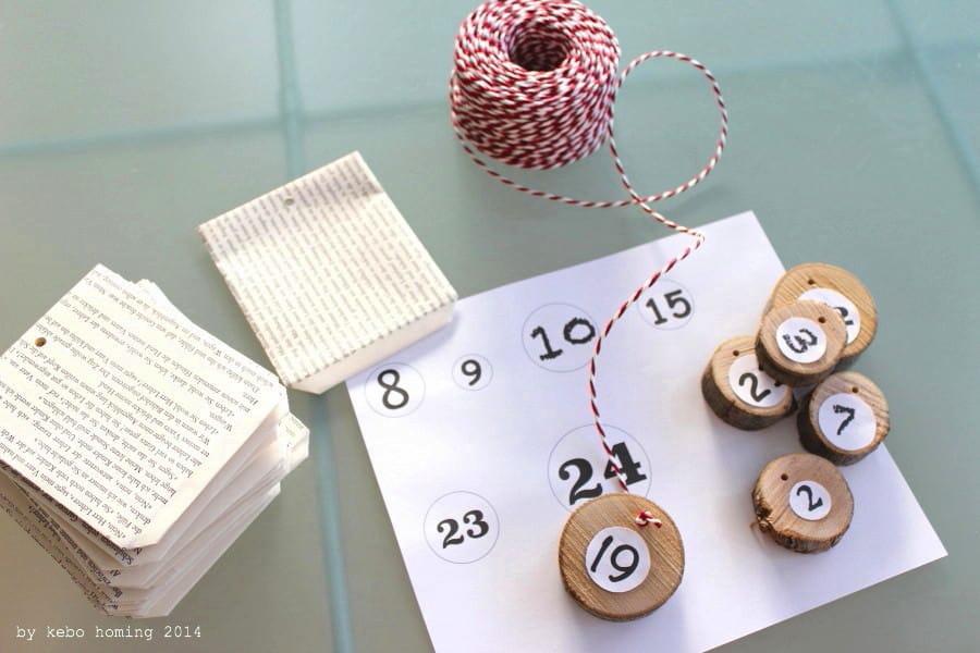 advendskalender aus alten buchseiten handmade kultur. Black Bedroom Furniture Sets. Home Design Ideas