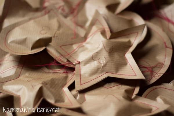 Genähter Papier-Adventskalender