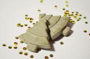 Tannenbaum-Magnete aus Beton