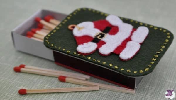 weihnachtliche streichholzschachteln handmade kultur. Black Bedroom Furniture Sets. Home Design Ideas