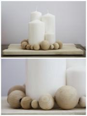 DIY Holzkugel-Adventskranz