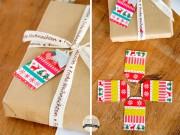 Geschenkanhänger mit Masking Tape basteln