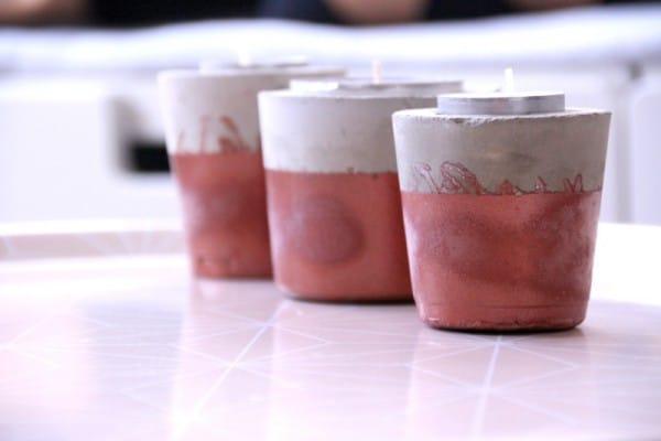 Teelichthalter/ Kerzenständer aus Zement