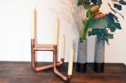 Vom Kupferrohr zum Kerzenständer