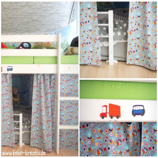 kinderbett vorhang handmade kultur. Black Bedroom Furniture Sets. Home Design Ideas