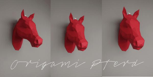 3D Origami Pferd + Giveaway - HANDMADE Kultur