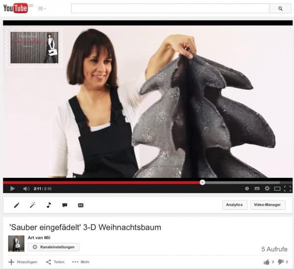 3D-Weihnachtsbaum nähen – Videotutorial