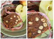 Apfelbrot in der Kastenform mit Feigen, Rosinen und etwas Rum