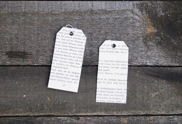 literarische Geschenkanhänger