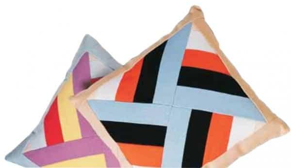 Nadelkissen und Kissen im Windmüblen-Muster