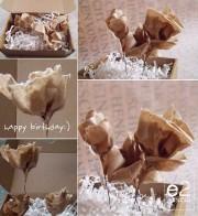 e2 für PapArt: Blumengruß