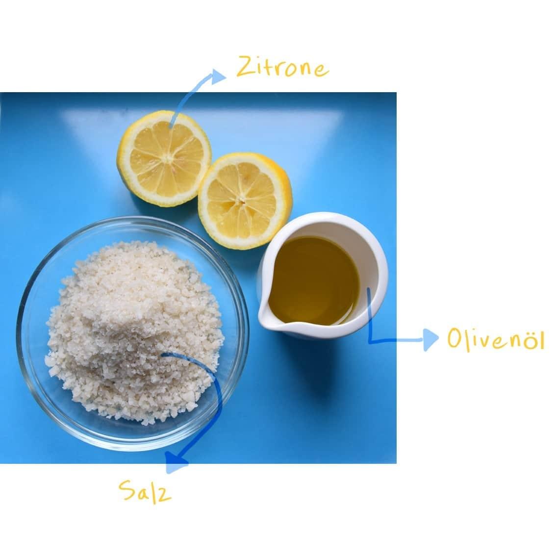 Zitronen-Meersalz-Peeling - HANDMADE Kultur