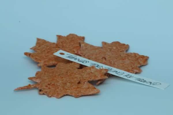Samenblätter als Geschenkkarten