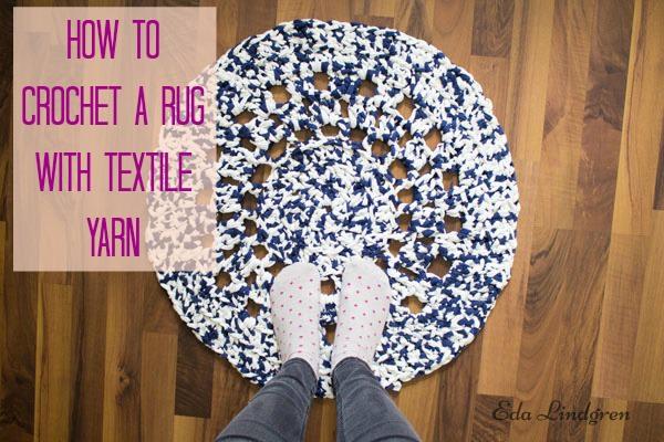 how to einen teppich mit textilgarn h keln handmade kultur. Black Bedroom Furniture Sets. Home Design Ideas