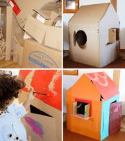 Spielhaus aus Pappe