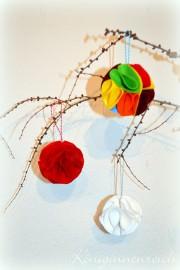 Filzkugeln für den Weihnachtsbaum