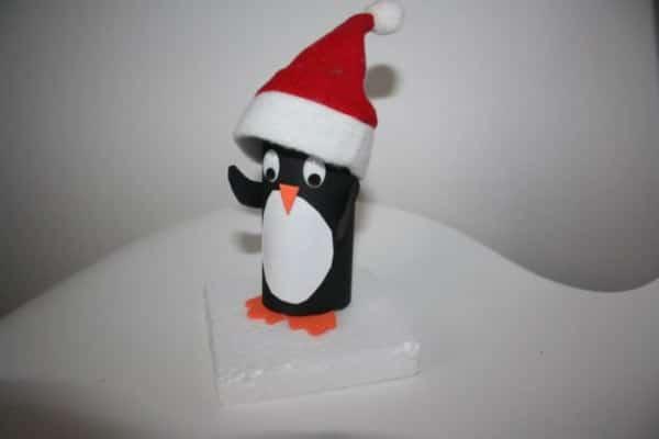 Weihnachtspinguin zum Befüllen