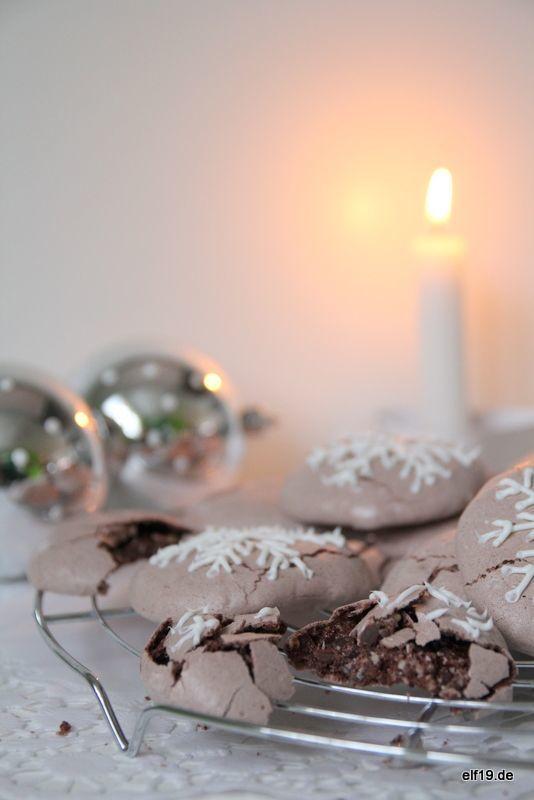 {lecker: } Schokoladen Baiser Cookies