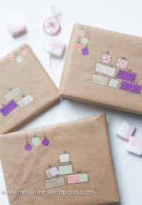 Bunte Geschenkverpackung - schnell und einfach