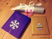 Weihnachtsgeschenke verzieren mit Bügelperlen