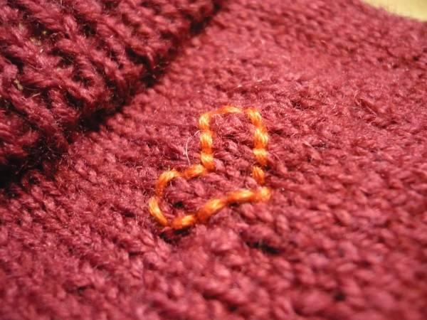 Mit Liebe zum Detail. Selbstgemachte Socken besticken