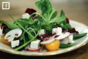 Fünf Gänge Silvester: 1. Kleiner Bunter Feldsalat mit Feta