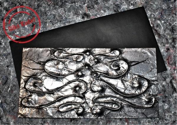 Strukturierte Weihnachtskarten im Metall-Look