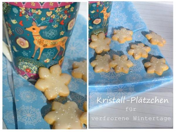 Kristall-Plätzchen für verfrorene Wintertage