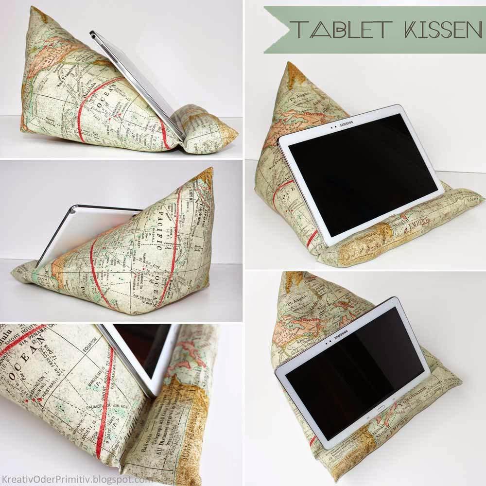 Tablet-/E-Book-/Buch-KISSEN - HANDMADE Kultur