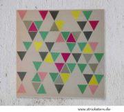 DIY: Triangle Wandbild