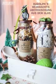 Rudolph`s Weihnachts-Überraschung aus dem Glas