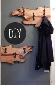 DIY-Garderobe aus einer Birnbaumwurzel